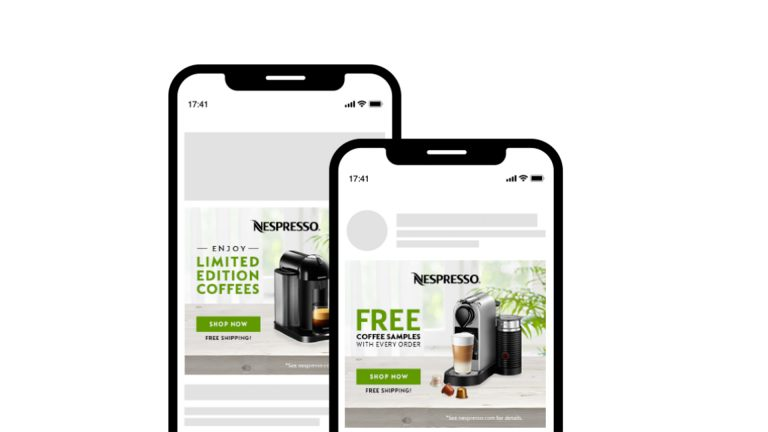 Dynamic Mobile Ad example for Nespresso